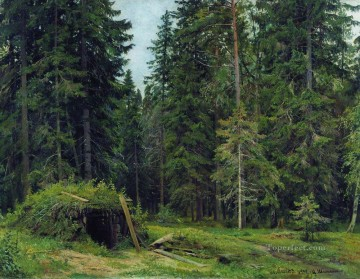forest hut 1892 classical landscape Ivan Ivanovich Oil Paintings