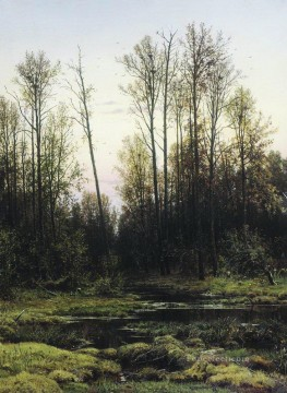 forest in spring 1884 classical landscape Ivan Ivanovich Oil Paintings