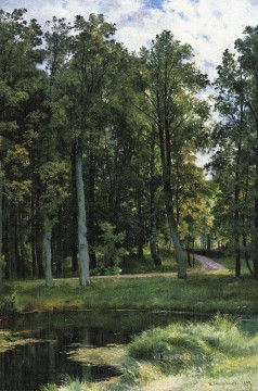 forest road 1897 classical landscape Ivan Ivanovich Oil Paintings