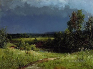 gathering storm 1884 classical landscape Ivan Ivanovich Oil Paintings