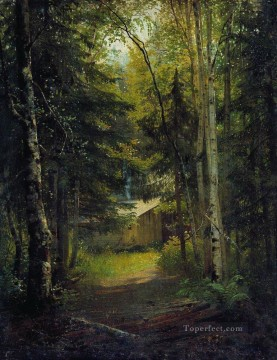 Ivan Ivanovich Shishkin Painting - hut in the the forest classical landscape Ivan Ivanovich
