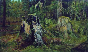 landscape with stump 1892 Ivan Ivanovich Oil Paintings
