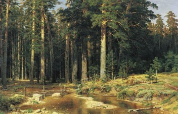 mast tree grove 1898 classical landscape Ivan Ivanovich Oil Paintings