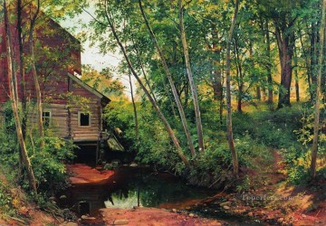 Ivan Ivanovich Shishkin Painting - mill in the forest preobrazhenskoe 1897 classical landscape Ivan Ivanovich