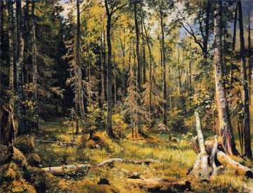 mixed forest shmetsk near narva 1888 classical landscape Ivan Ivanovich Oil Paintings