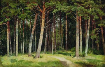 pine forest 1885 classical landscape Ivan Ivanovich Oil Paintings