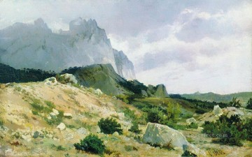rocky shore 1879 classical landscape Ivan Ivanovich Oil Paintings