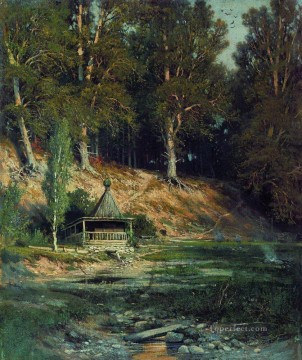 the chapel in forest 1893 classical landscape Ivan Ivanovich Oil Paintings