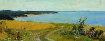 view of the beach classical landscape Ivan Ivanovich Oil Paintings