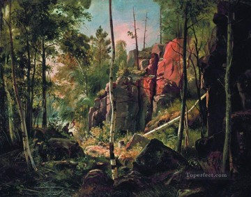 view of valaam island kukko 1860 1 classical landscape Ivan Ivanovich Oil Paintings