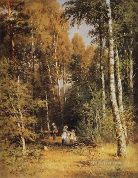 birch grove 1878 classical landscape Ivan Ivanovich Oil Paintings
