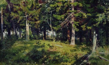 clearing in the forest 1889 classical landscape Ivan Ivanovich Oil Paintings