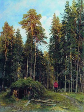 evening 1892 classical landscape Ivan Ivanovich Oil Paintings
