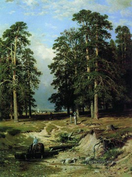 holy creek near yelabuga 1886 classical landscape Ivan Ivanovich Oil Paintings