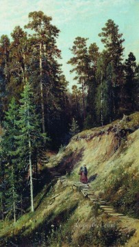 in the forest from the forest with mushrooms 1883 classical landscape Ivan Ivanovich Oil Paintings