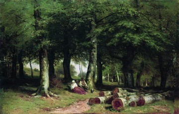 landscape Painting - in the grove 1869 classical landscape Ivan Ivanovich