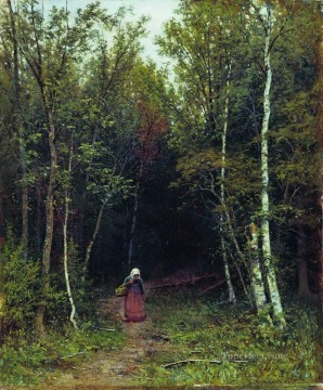 landscape with a woman 1872 Ivan Ivanovich Oil Paintings