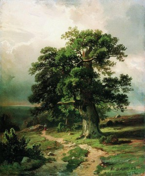 oak 1865 classical landscape Ivan Ivanovich Oil Paintings