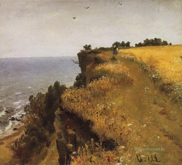 on the shore of the gulf of finland udrias near narva 1888 classical landscape Ivan Ivanovich Oil Paintings