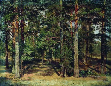 pine forest 1 classical landscape Ivan Ivanovich Oil Paintings