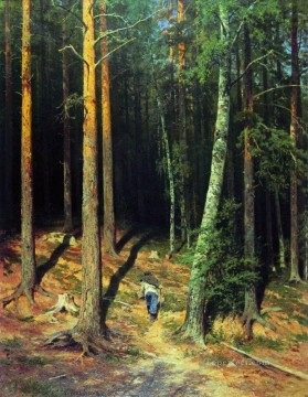 pine forest 1878 classical landscape Ivan Ivanovich Oil Paintings