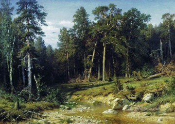 landscape Painting - pine forest in vyatka province 1872 classical landscape Ivan Ivanovich