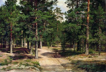 the sestroretsk bor 1896 classical landscape Ivan Ivanovich Oil Paintings