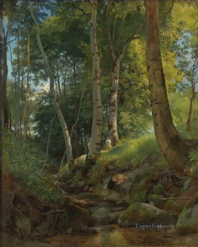 THE BROOK classical landscape Ivan Ivanovich Oil Paintings
