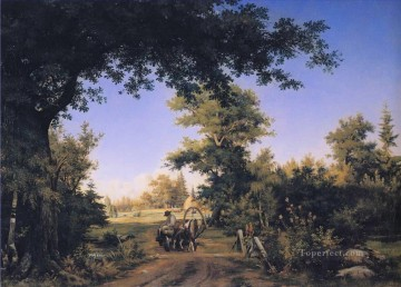 View on the Outskirts of St Petersburg classical landscape Ivan Ivanovich Oil Paintings