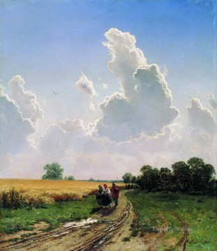 noon suburbs of moscow bratsevo 1866 classical landscape Ivan Ivanovich Oil Paintings