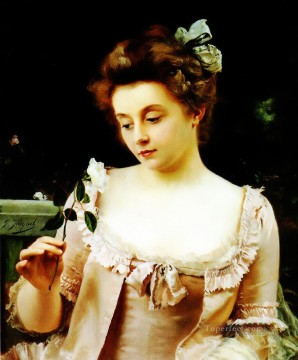 A Rare Beauty lady portrait Gustave Jean Jacquet Oil Paintings