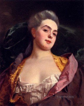 Portrait Of lady Gustave Jean Jacquet Oil Paintings