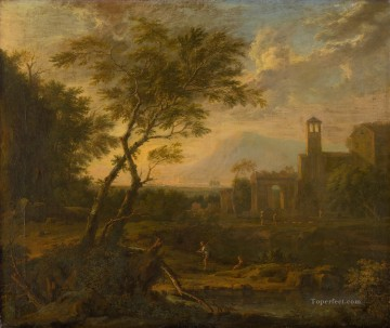 Italian Landscape Jan van Huysum Oil Paintings