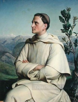 Louis Janmot Painting - henri lacordaire at sorreze Anne Francois Louis Janmot