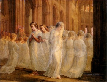 Jan Canvas - poeme de l ame 10premiere communion Anne Francois Louis Janmot