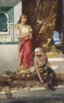Afternoon in the Harem Jean Joseph Benjamin Constant Orientalist Oil Paintings