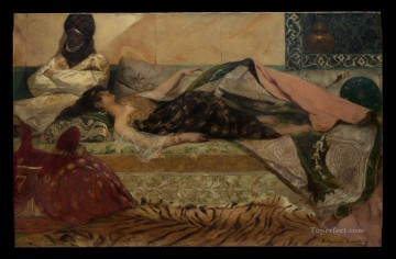 Odalisque Jean Joseph Benjamin Constant Orientalist Oil Paintings