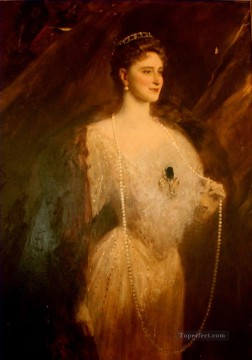 Portrait of the Empress Alexandra Fyodrovna Jean Joseph Benjamin Constant Orientalist Oil Paintings