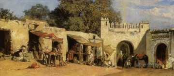 An Arab Market Jean Joseph Benjamin Constant Orientalist Oil Paintings