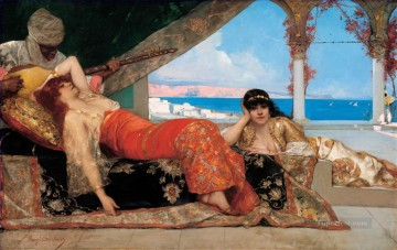 Favorite of the Emir Jean Joseph Benjamin Constant Orientalist Oil Paintings