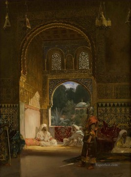 Constant Canvas - In the Sultan Palace Jean Joseph Benjamin Constant Orientalist