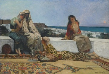 TWILIGHT HOURS Jean Joseph Benjamin Constant Orientalist Oil Paintings