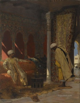 grand Painting - The Order of the Grand Vizier Jean Joseph Benjamin Constant Orientalist