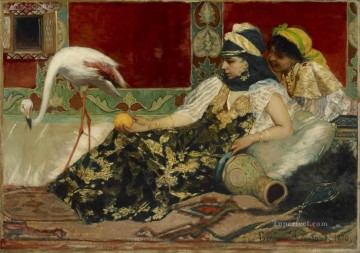 The Pink Flamingo Jean Joseph Benjamin Constant Orientalist Oil Paintings