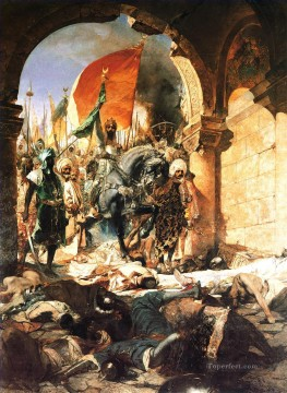 Entry Painting - The Entry of Mahomet II into Constantinople Jean Joseph Benjamin Constant Orientalist