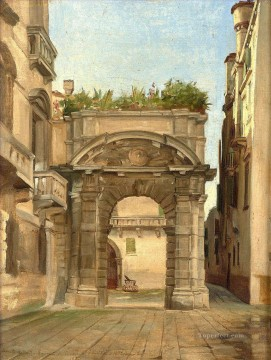 realism - Entrance to the Morosini Palace in San Salvator Venice Jean Jules Antoine Lecomte du Nouy Orientalist Realism