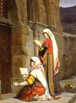 Jean Jules Antoine Lecomte du Nouy Painting - Prayers at the tomb of the Virgin Jean Jules Antoine Lecomte du Nouy Orientalist Realism