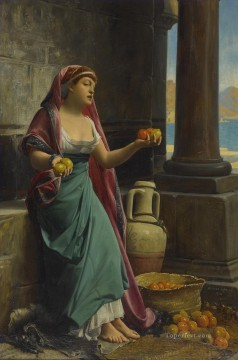 THE CITRUS SELLER Jean Jules Antoine Lecomte du Nouy Orientalist Realism Oil Paintings