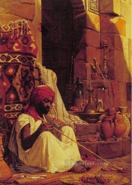 The Opium Smoker Jean Jules Antoine Lecomte du Nouy Orientalist Realism Oil Paintings