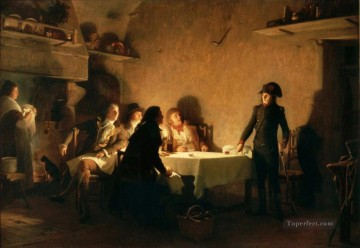 The supper of Beaucaire Jean Jules Antoine Lecomte du Nouy Orientalist Realism Oil Paintings